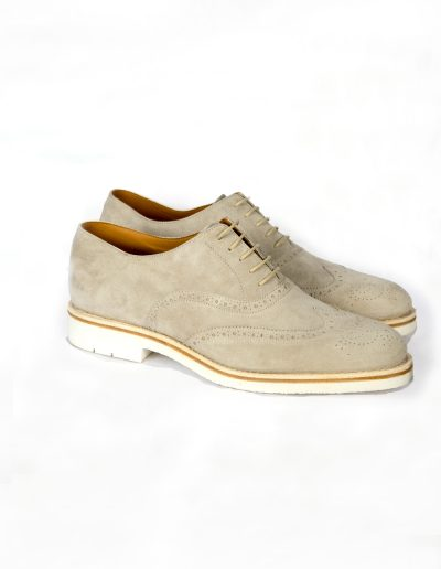 Lt Beige Suede Oxfords 4.900 SEK