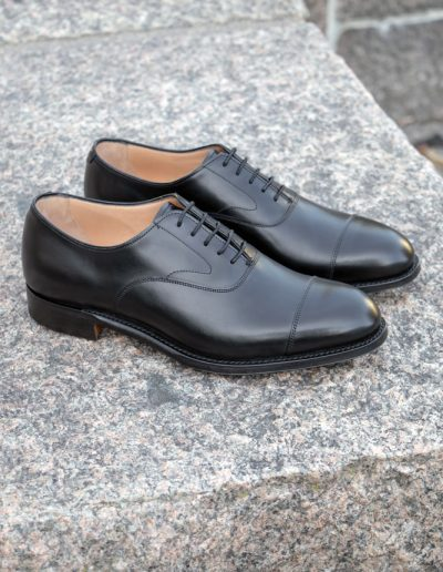Alfred Capped Oxford Black Calf