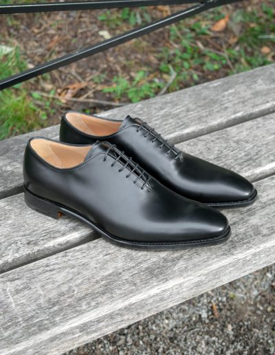 Berkeley - Whole cut Oxford Black Leather