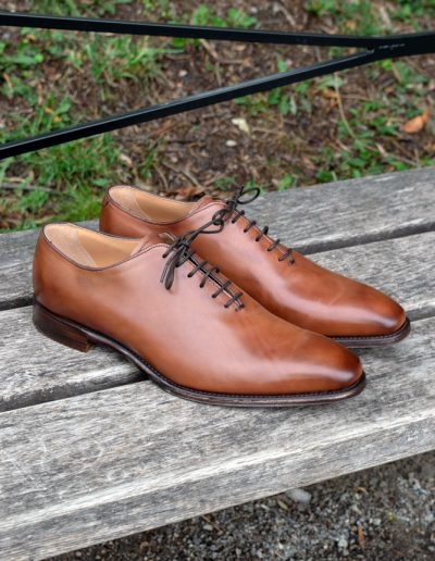 Berkeley - Whole cut Oxford Brown Leather