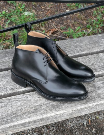 Chukka boot - Black calf leahter