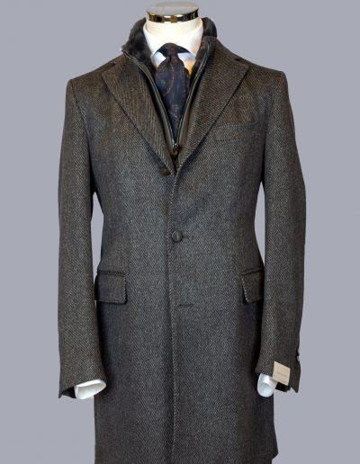 Corneliani Grey Herringbone overcoat