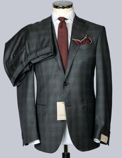 Corneliani Grey Windowpane Suit